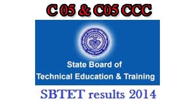 AP SBTET DIPLOMA C-05 (CCC) RESULTS NOV/DEC 2014 sbtetap.gov.in