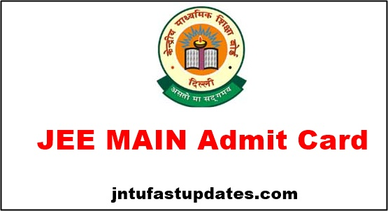 JEE Mains Admit Card 2019