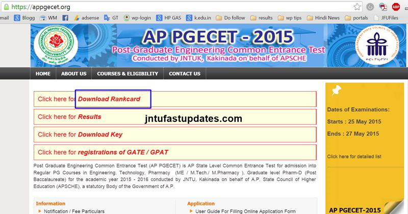 AP PGECET 2015 Rank Card Download-1
