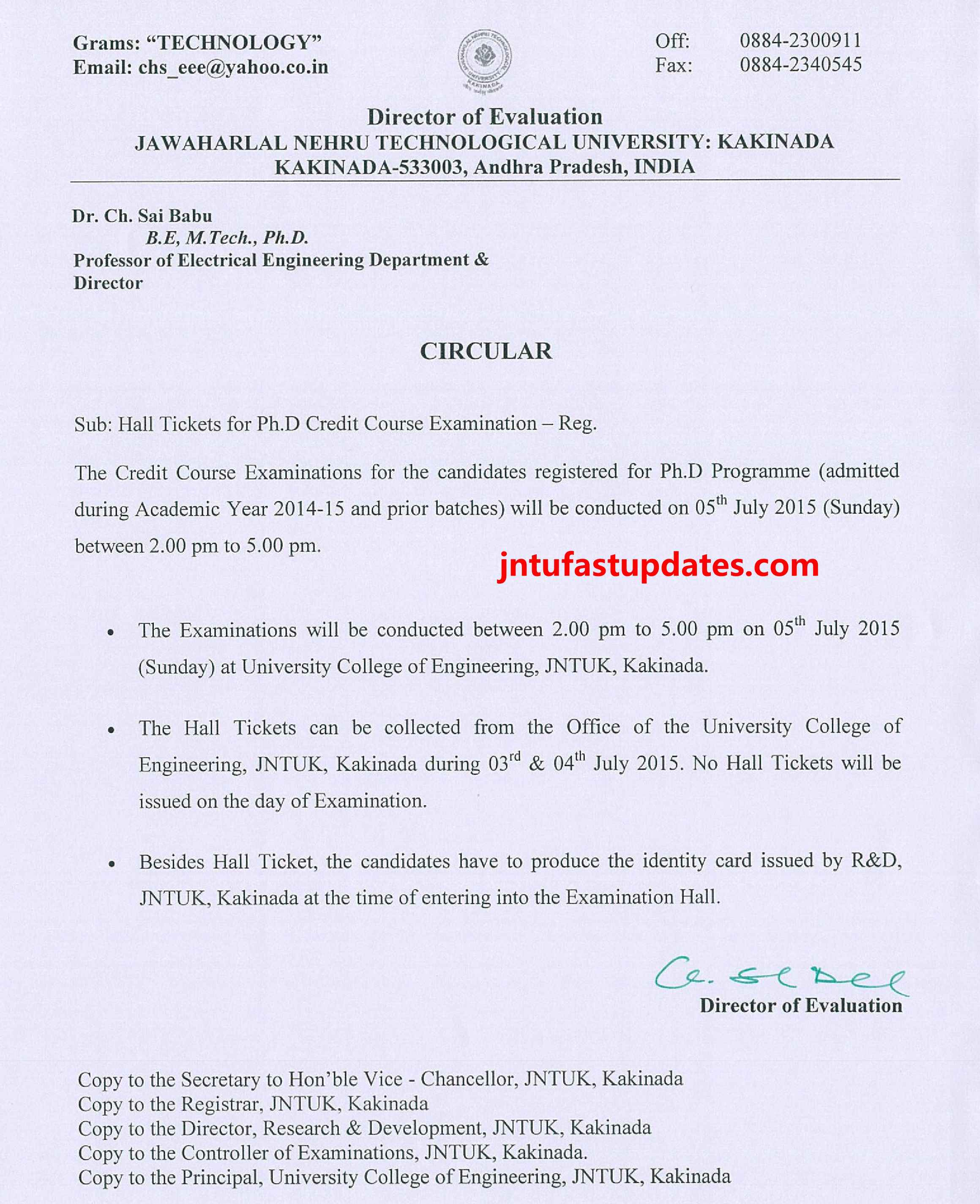 Ph.D Credit Course - Examinatin 2015 - Time Table.page1_compressed