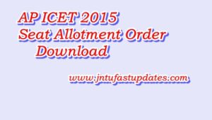 AP ICET 2016 Seat Allotment order Download for MBA and MCA
