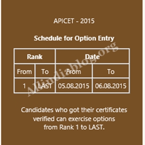 AP Icet 2015 2nd Counselling Dates