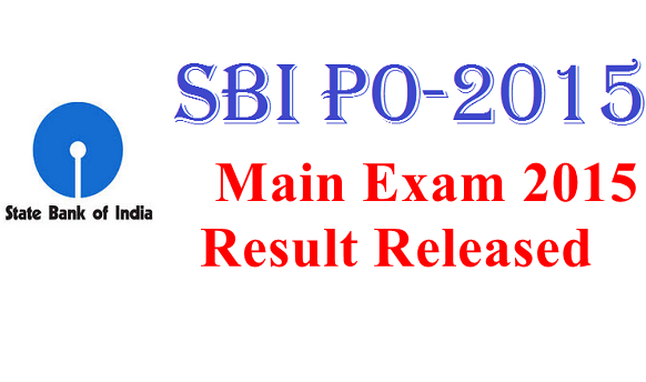 SBI-PO-Main-Exam-2015-Result-Released