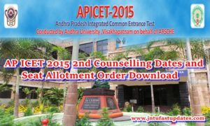 AP ICET 2nd Counseling Dates 2015 Rank Wise & Seat Allotment Order