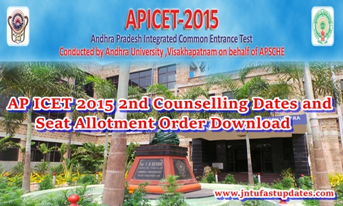 AP ICET 2nd Counseling Dates 2015 Rank Wise