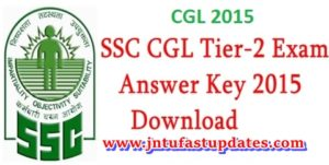 SSC CGL Tier 2 Answer Key 2015 Download October 25 & 26