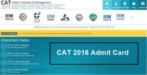 CAT Admit Card 2017 Download Here Name Wise Login @ iimcat.ac.in