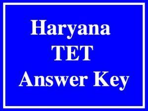 HTET Answer Key 2017