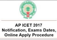 AP ICET 2017 Notification