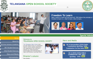 TOSS SSC & Inter Time Tables March/April 2018 : Telangana Open School Society Exam Time Table