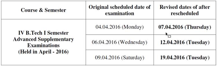 4-1 rescheduled dates