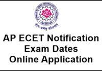 AP ECET 2017 Notification