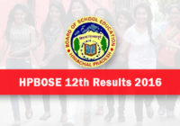 HP Board 12th Result 2016