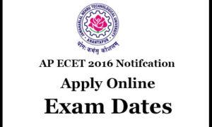 AP ECET 2016 Notification, Apply Online, Exam Dates