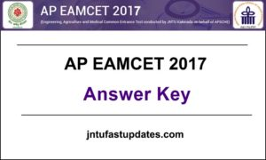AP EAMCET 2017 Answer Key Download For 24th April (Mathematics, Physics, Chemistry) @ sche.ap.gov.in