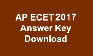 AP ECET 2017 Answer key Download with Q.P Branch Wise PDF @ sche.ap.gov.in