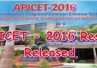 AP ICET Results 2016