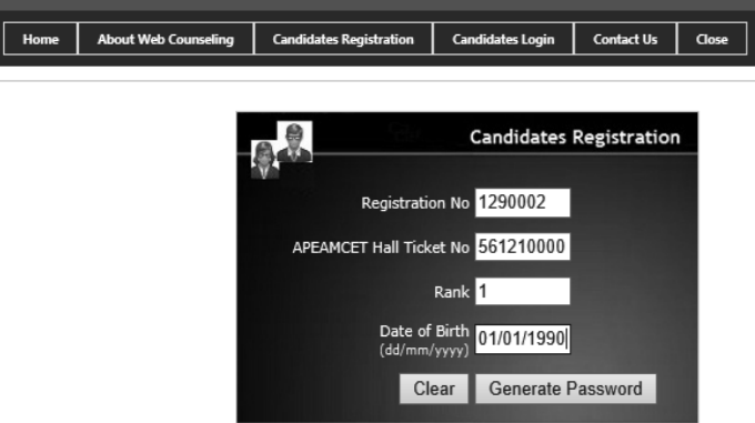 Candidates Registration