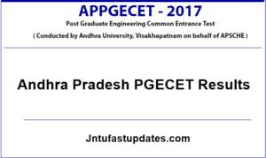 AP PGECET Results 2017 Declared – Check Manabadi PGECET Result, Marks, Ranks @ sche.ap.gov.in