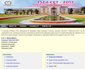 TS EDCET Results & Rank Cards 2017 Released at Manabadi, edcet.tsche.ac.in
