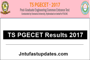 TS PGECET Results 2017 Released – Telangana PGECET Result, Rank Card Download @ pgecet.tsche.ac.in