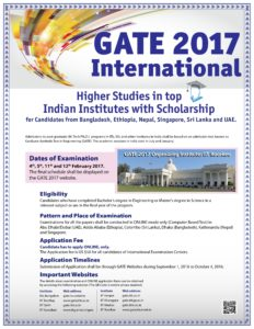 GATE 2017 Exam To Be Held Abroad For Foreign Students
