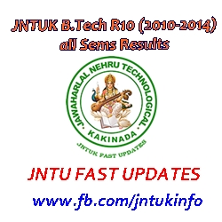 JNTUK B.Tech 2010-2014 Batch Results