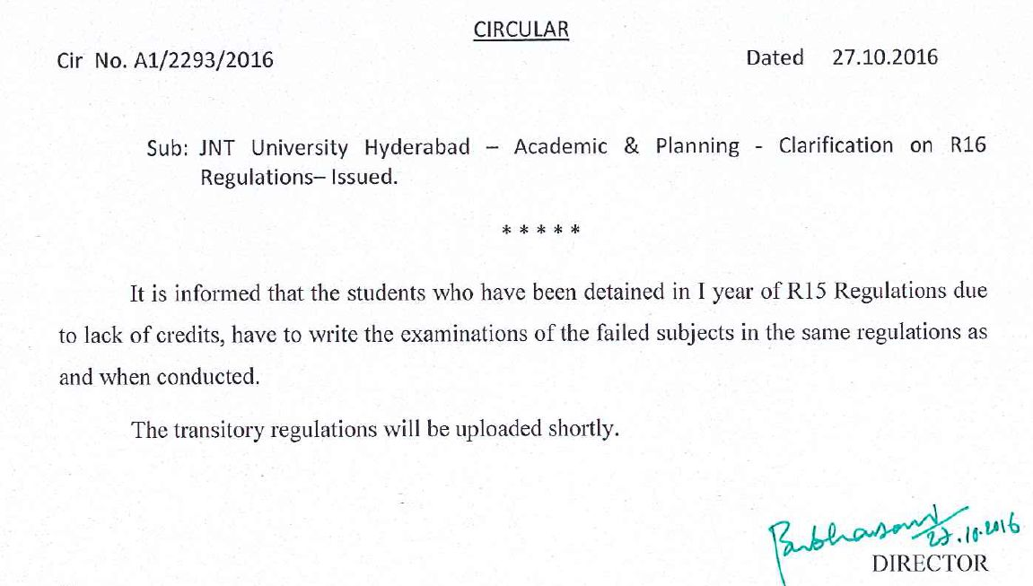 jntuh-clarification-on-r16-regulation