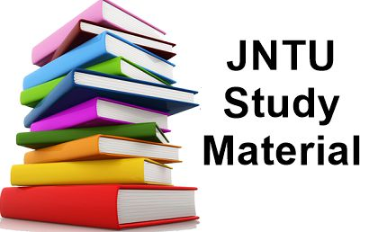 JNTU Study Materials - Jntu Text Books/E-Books Free Download 1 To 4