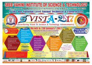 SVISTA-2K17 : National Level Technical Fest on January 6th & 7th – Prizes Worth Rs 2,00,000/-