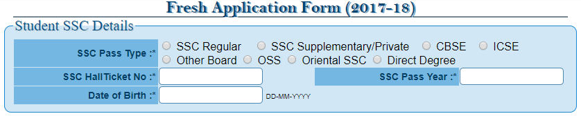 ts epass fresh application form 2017-18