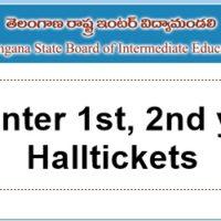 ts inter 1st, 2nd year halltickets