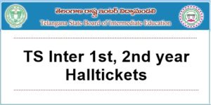 ts inter 1st, 2nd year halltickets