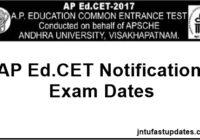 AP Ed.CET 2017 Notification