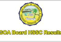 Goa HSSC Results 2017