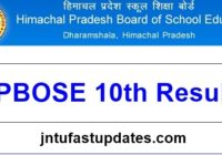HPBOSE 10th Result 2017