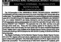 JNTUH VI Convocation Notification