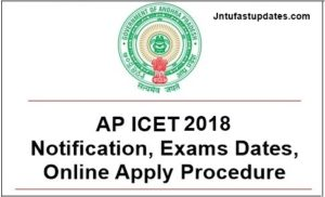 AP ICET 2018 Notification, Online Application Procedure, Exam Dates @ sche.ap.gov.in