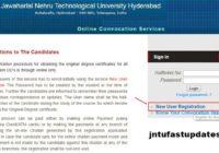 jntuh New User Registration for OD