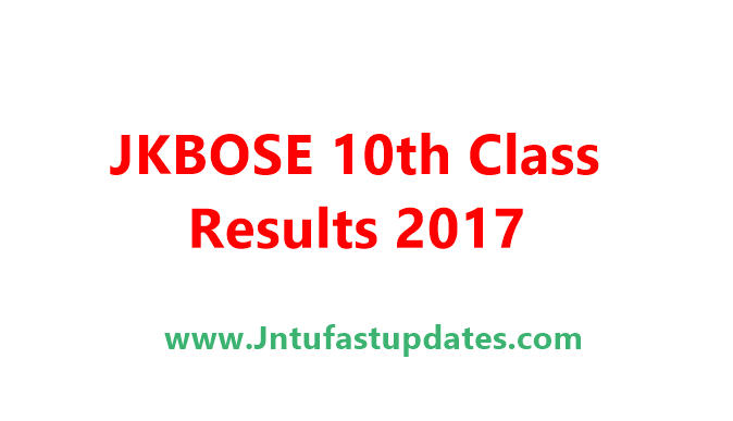 JKBOSE 10th Result 2017