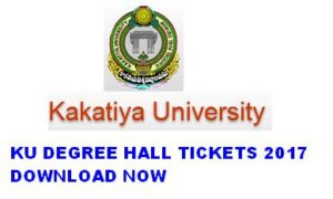 Kakatiya University (KU) Degree Hall Tickets