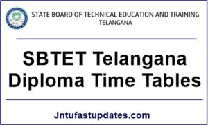 TS SBTET Diploma Time tables March/April 2018 – C16, C14, C09 & ER-91 Regular/Supply Exams @ sbtet.telangana.gov.in