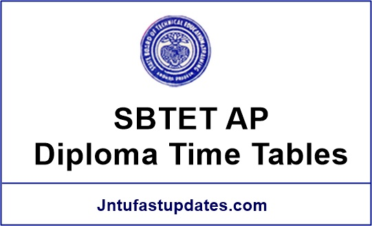 Sbtet ap diploma time tables 2017