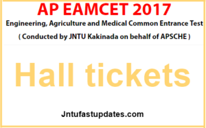 AP EAMCET 2017 Hall Tickets Download (Released) – Andhra Pradesh EAMCET Hallticket @ sche.ap.gov.in