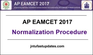 AP EAMCET 2017 Normalization Procedure