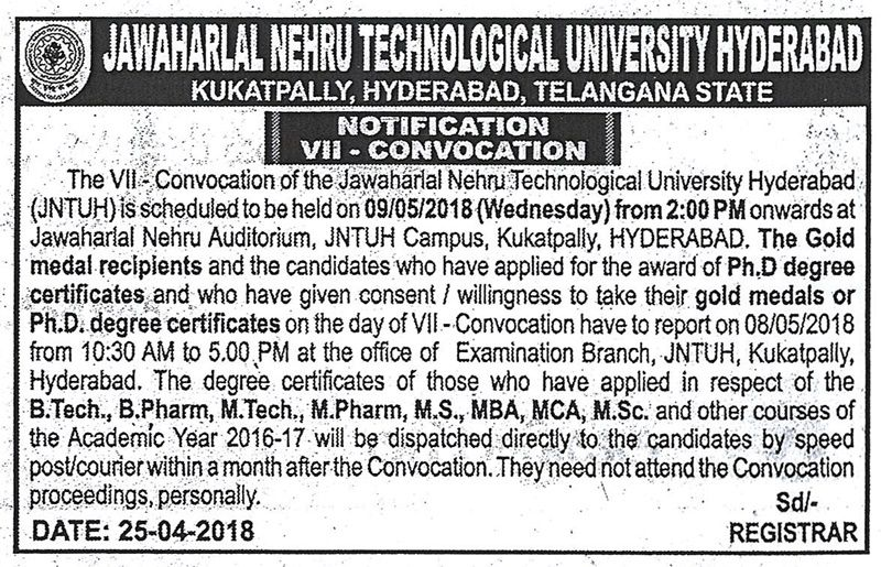 JNTUH_VII_Convocation_Notification