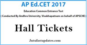 AP EdCET 2017 Hall Tickets Download Now @ sche.ap.gov.in