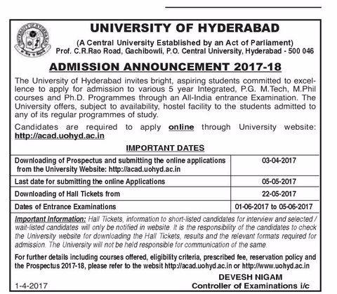 university of hyd