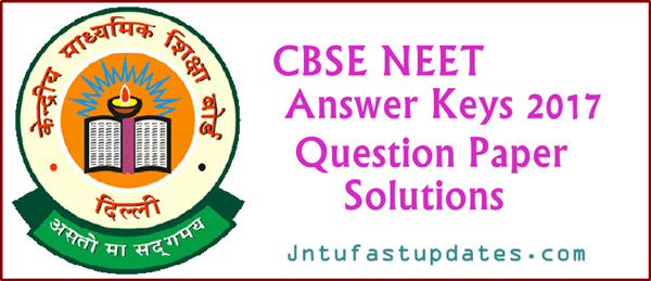 NEET Answer Key 2017 Download