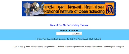 NIOS 12th Result 2018